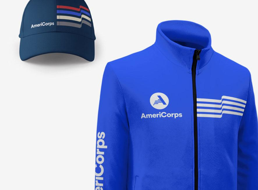 AmeriCorps branded cap and top