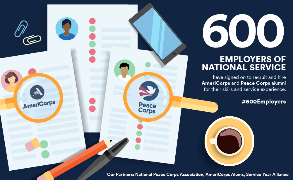 600 Employers of National Service