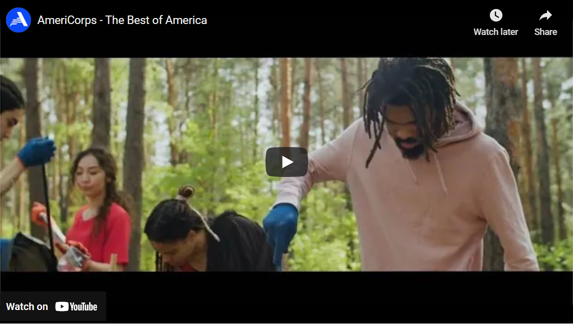 AmeriCorps PSA 2020 - The Best of America, still show, click to play