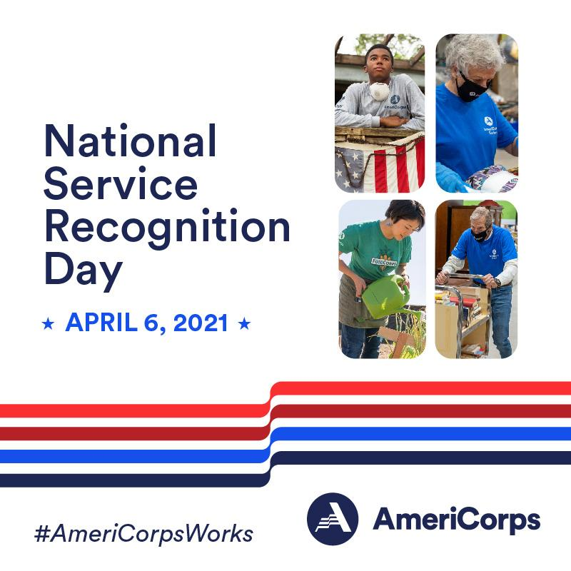 National Service Recognition Day graphic