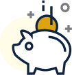 Icon of a piggy bank
